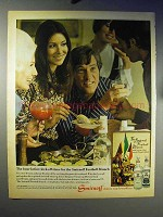 1970 Smirnoff Vodka Ad - Football Brunch