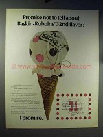 1970 Baskin-Robbins Ice Cream Ad - 32nd Flavor?