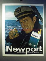 1970 Newport Cigarettes Ad - Welcome Aboard