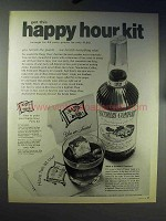 1970 Southern Comfort Liquor Ad - Happy Hour Kit