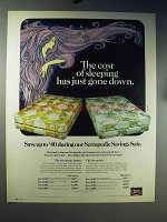 1971 Serta Sertapedic Deluxe Mattress Ad - Sleeping