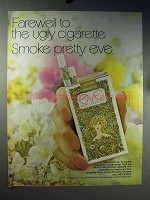 1971 Eve Cigarettes Ad - Farewell To Ugly