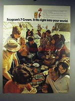 1971 Seagram's 7 Crown Whiskey Ad - Fits Your World