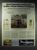 1971 Kent Cigarettes Ad - Royal Holiday in England