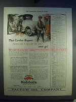 1921 Gargoyle Mobiloil Ad - That Careless Request