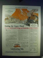 1921 Gargoyle Lubricating Oils Ad - Friction's Drag