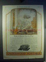 1923 Underwood Portable Typewriter Ad - Give Them Wings