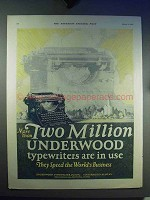 1923 Underwood Typewriter Ad - Two Million in Use