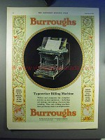 1930 Burroughs Typewriter Billing Machine Ad