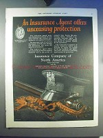 1923 Insurance Company of North America Ad - Agent