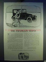 1919 Franklin Sedan Car Ad