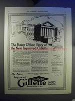 1921 Gillette Safety Razor Ad - The Patent Office Story