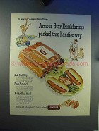 1948 Armour Star Frankfurters Ad - Packed Handier Way