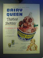 1953 Dairy Queen Strawberry Sundae Ad - Better