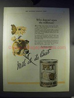 1921 Pet Evaporated Milk Ad - Why Depend on Milkman