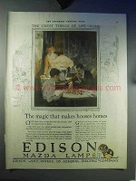 1921 Edison Mazda Lamps Ad - Makes Houses Homes