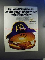 1979 McDonald's Fischmac Ad - in German - Piratenhut