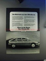 1979 Citroen GS Car Ad - In German - Windkanal
