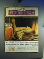 1965 Pepperidge Farm White Bread Ad - That's Toast!