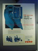 1965 Ford Tractor Corn Snapping Unit Ad - Crib More