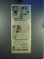 1965 Speed Queen Washer and Dryer Ad - Dependable