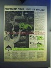 1965 Poulan 360, 400 Automatic Chainsaw Ad - Punch