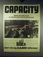 1966 Case Tractor Ad - Capacity That's Big Difference