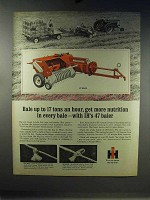 1967 International Harvester 47 Baler Ad - More Nutrition