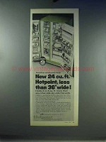 1967 Hotpoint Food Center 24 Refrigerator Ad