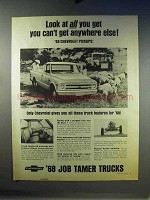1968 Chevrolet Pickup Truck Ad - Look At All You Get