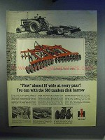 1967 IH International 500 Disk Harrow Ad
