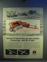 1967 International Harvester 47 Baler Ad - Nutrition