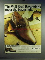 1968 Bostonian Shoe Ad - Well-Bred Meet Blazer Suit