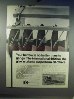 1968 IH International 480 Wing-type Disk Harrow Ad