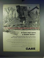 1968 Case 660 Combine Ad - Earns A Double Bonus
