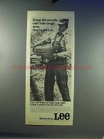 1968 Lee Bib Overalls Ad - Take Tough Wear