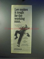 1968 Lee Bib Overalls Ad - Tough for the Working Man