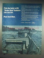 1970 Ford Baler Ad - Pick With Better Bale Features