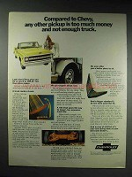 1970 Chevrolet Pickup Truck Ad - Any Other Too Much