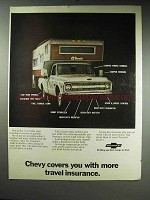 1970 Chevy Pickup Truck Camper Ad - Travel Insurance