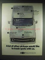 1970 Chevrolet Pickup Truck Ad - Trade Spots With Us
