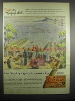 1947 Cinco Perfecto Cigar Ad - Sunday on Telegraph Hill