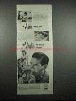 1947 Vitalis Hair Tonic Ad - Alive Looking Hair