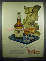 1947 Paul Jones Whiskey Ad - Born Leader