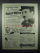 1947 Official Films Ad - Charlie Chaplin Movies