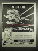 1947 Wabash-Sylvania Superflash Bulbs Ad - Catch 'Em
