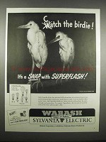 1947 Wabash-Sylvania Superflash Bulbs Ad - Catch Birdie