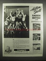 1947 Wabash-Sylvania Superflash Bulbs Ad - Action Shots