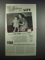1947 Da-Lite Challenger Movie Screen Ad - Memories