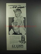 1947 General Electric Midgets Flash Bulbs Ad - Better